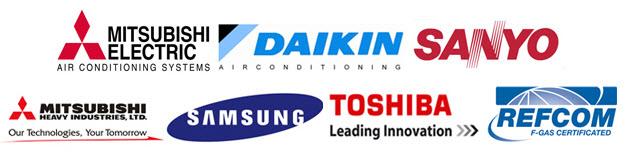 Air Conditioning Manufacturers Logos