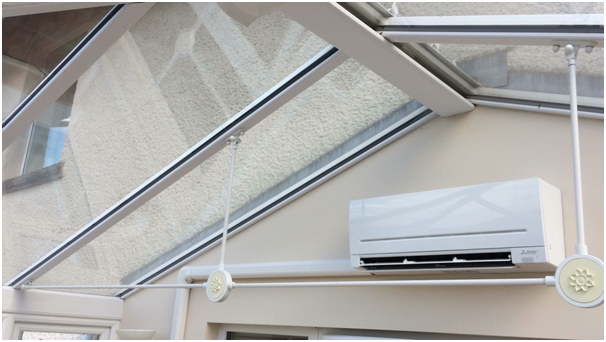 ... Mitsubishi Electric R32 Split Air Conditioning System Within  Conservatory In Whaley Bridge. Regular Post